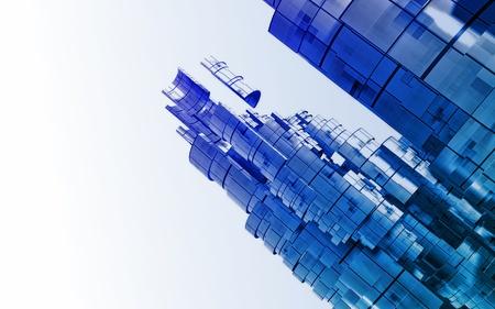 3D futuristic background Stock Photo - 20045112