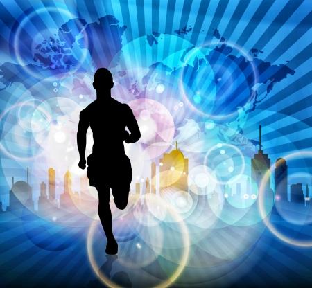 runner silhouette: Runner
