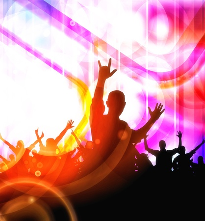 event party festive: Music event illustration