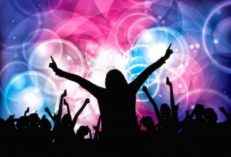Dancing people  Clubbing illustration Stock Illustration - 20142377