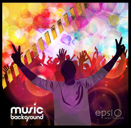 party People Vector Background Stock Vector - 20654183