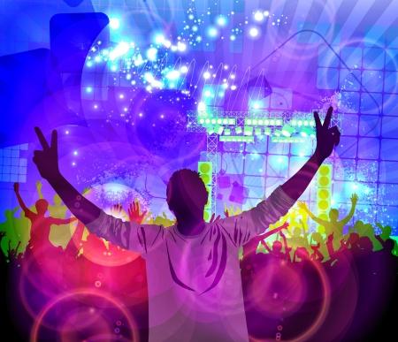 baile hip hop: Multitud de personas bailando