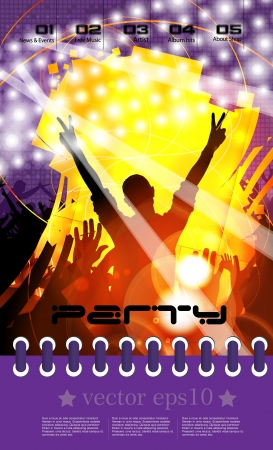 Urban party concept  Vector
