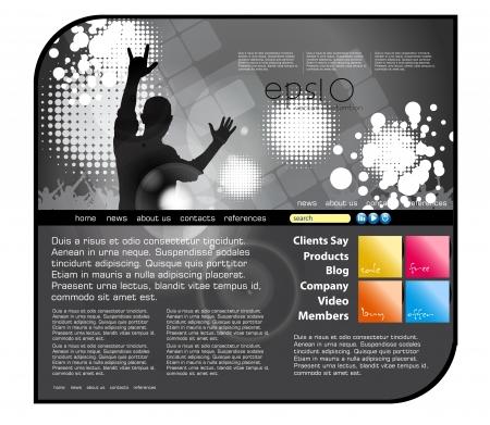 Website music template Illustration