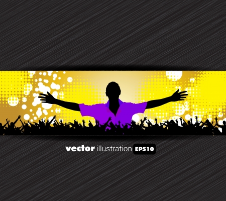 Discoteque music background Stock Vector - 20913452