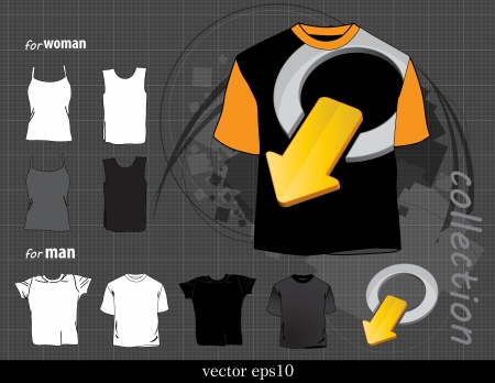 T-shirts collection  Vector design Vector