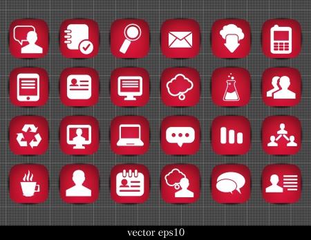 rec: Web site vector icons set