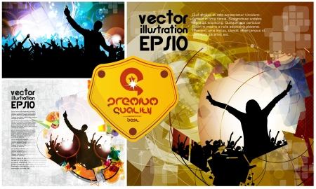 Vector set of dancing young people  Stock Vector - 21911001