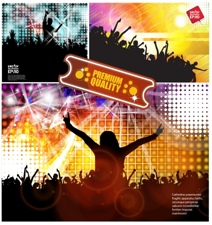 Dancing Young People  Vector  Stock Vector - 21984063