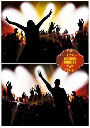 Dancing Young People  Vector  Ilustração