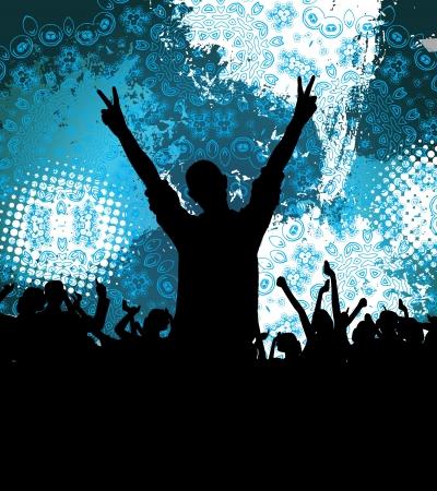 hip hop dance pose: ejemplo de estrella de rock tocando en conciertos de m�sica Vector