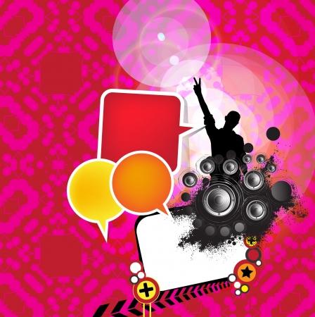 Party background banner  Vector Illustration