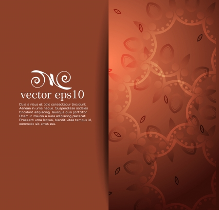Elegant background with floral ornament  Vector  Vector