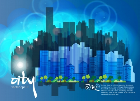 Vector of city skyline  Vector