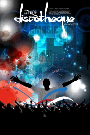 Disco party illustration  Vector Vector