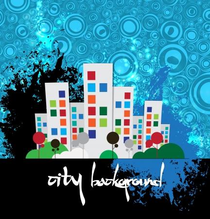Creative urban landscape  Vector Stock Vector - 22266951