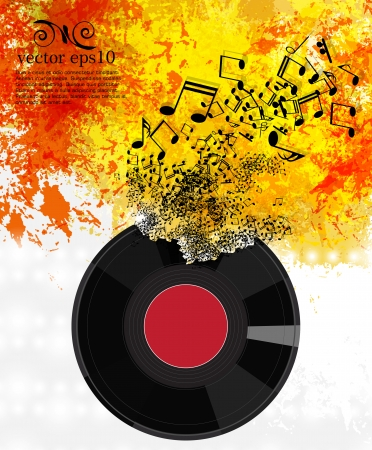 Abstract music background vector Reklamní fotografie - 22266968