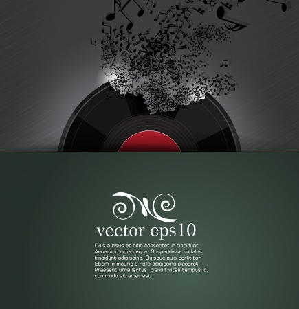 grooves: Abstract music background  Vector Illustration