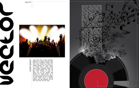 applauding: Vector Music brochure, magazine cover and poster template