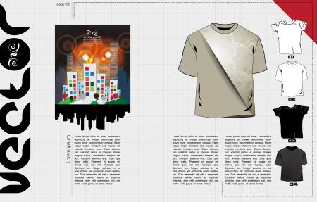 broshure: T-shirts design template  Vector