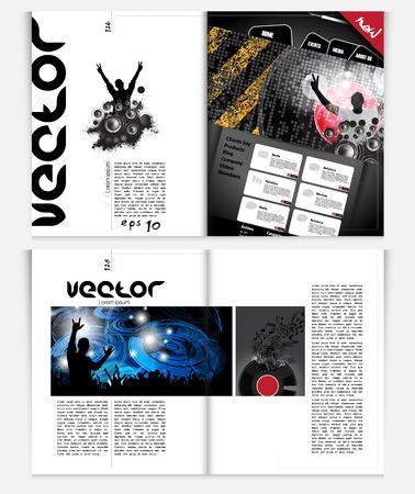 dubstep: Layout magazine  Vector Illustration