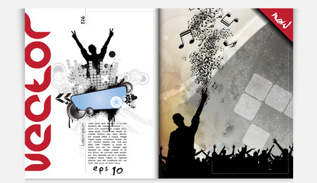 dancing disco: Layout magazine  Vector Illustration