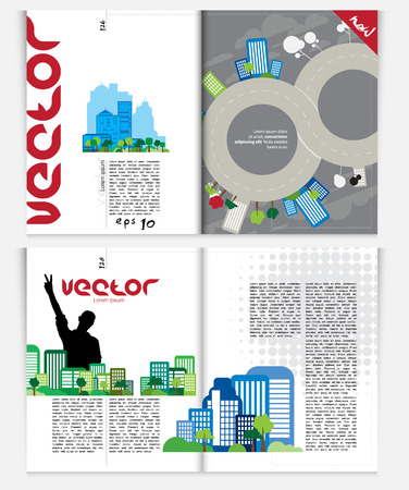 Magazine layout  Vector Illustration