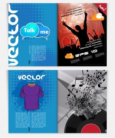 Modern Brochure Template - EPS10 Vector Design Stock Vector - 22583385