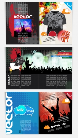 Modern Brochure Template - EPS10 Vector Design Stock Vector - 22583386