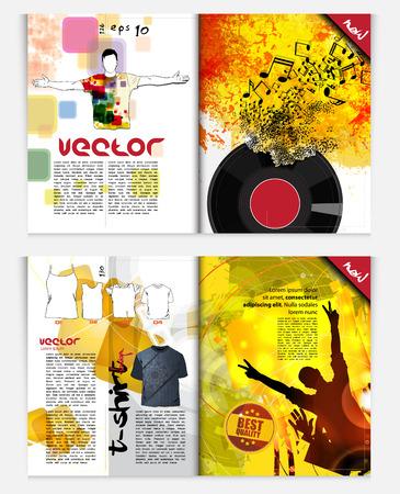 Modern Brochure Template - EPS10 Vector Design Vector