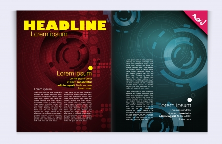 Modern magazine bright, glossy design Vector