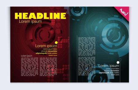 Modern magazine bright, glossy design Stock Vector - 22834263