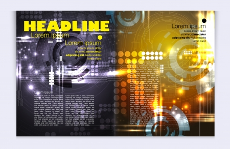 Modern magazine bright, glossy design Vector