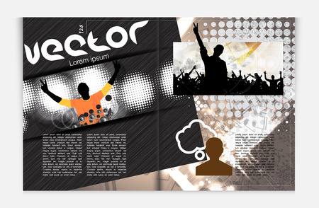 Modern Brochure Template - EPS10 Vector Design Stock Vector - 22680906
