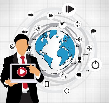 Cloud computing business concept Stock Vector - 22834774
