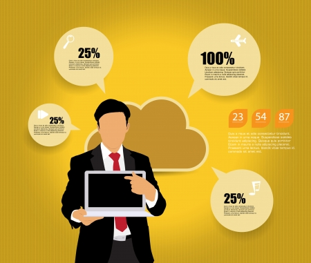 Cloud computing business concept Stock Vector - 22834778