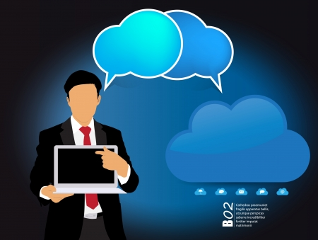 Cloud computing business concept Stock Vector - 22834847