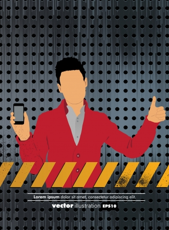 Man using smartphone  Vector Stock Vector - 22835323