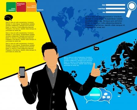 Man using smartphone  Vector Stock Vector - 22835338