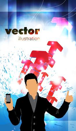 Man using smartphone  Vector  Vector