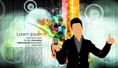 Man using smartphone  Vector  Stock Vector - 23014734