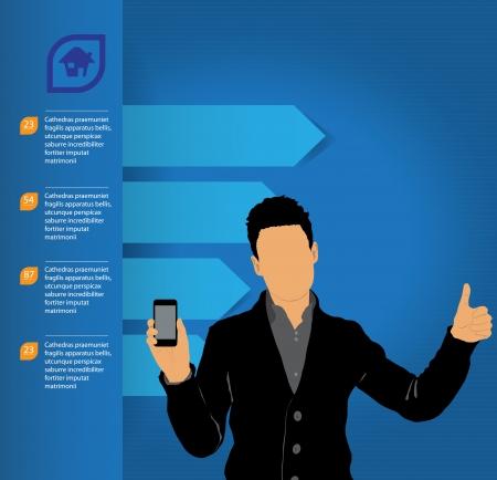 Man using smartphone  Vector Stock Vector - 23014748