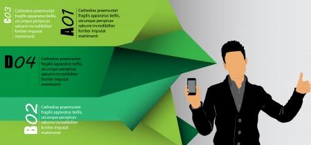 Man using smartphone  Vector  Stock Vector - 23014753