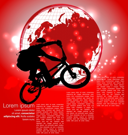 Cyclist abstract background, vector illustration Vector