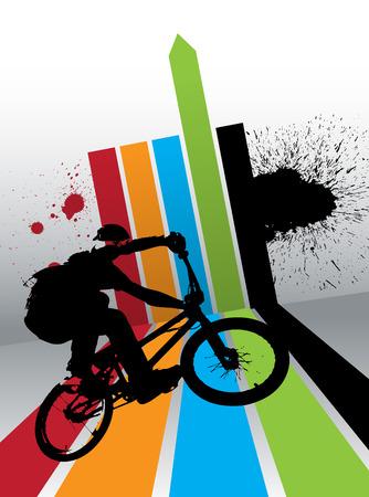 BMX biker  Vector 矢量图像