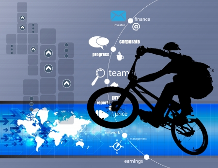 mtb: BMX biker  Vector Illustration