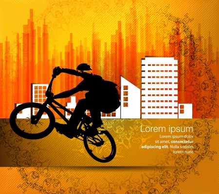Vector image of BMX cyclist  Vector