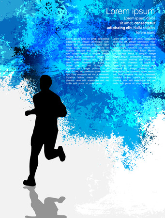 illustration of man running in marathon