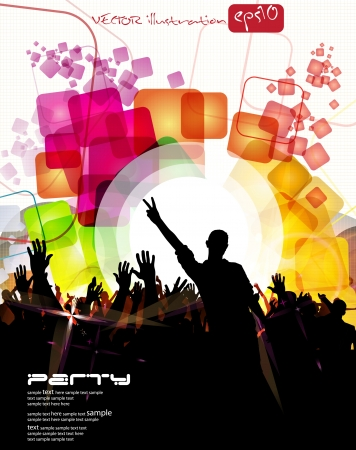 Urban party concept  Vector Stock Vector - 23351835