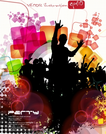 Music Party Background  Vector Vector